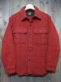 DALEE'S&Co GRIDDGE 40's CIVILIAN C.P.O SHIRT (RED)