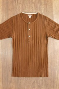 JOE McCOY DOUBLE DIAMOND HENLEY SHIRT S/S MC13028