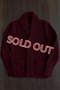 JOE McCOY SHAWL COLLAR CARDIGAN・MC11141 (BURGUNDY)