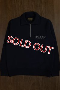 THE REAL McCOY'S USAAF 1/4 ZIP SWEATSHIRT MC16102