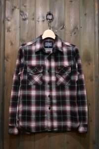 STUDIO D'ARTISAN CHECK L/S WORK SHIRT 5599 / RED