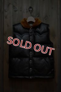 JOE McCOY MOUTON COLLAR HORSEHIDE DOWN VEST MJ17123