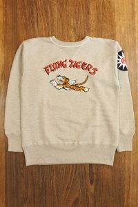 THE REAL McCOY'S MILITARY PRINT SWEATSHIRT / FLYING TIGERS MC20103
