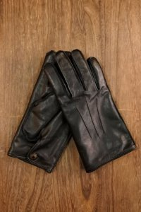 DELUXEWARE DLG-001...LEATHER GLOVE (BLACK)
