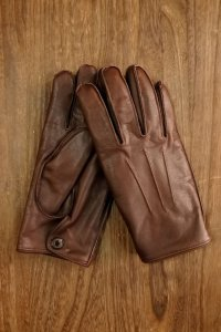 DELUXEWARE DLG-001...LEATHER GLOVE (BROWN)